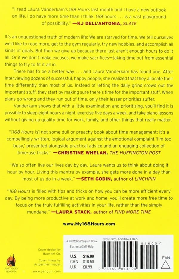 back cover of 168 hours audiobook