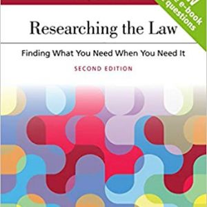 Researching the Law: Finding What You Need When You Need It - Aspen Coursebook (2nd Edition) - eBook