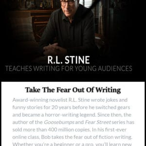 r. l. stine teaches writing for young audiences