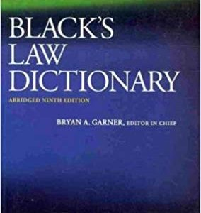 Black's Law Dictionary (9th Edition) - eBook