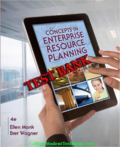 Concepts in Enterprise Resource Planning 4th edition testbank