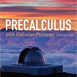 Precalculus with Calculus Previews (6th Edition)-eBook