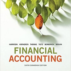 Financial Accounting (6th Canadian Edition) - eBook