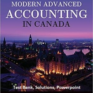 Modern-advanced-accounting-in-Canada-8e-testbank solutions powerpoint
