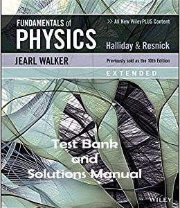 Fundamentals-of-Physics-Extended-11e-testbank-solutions