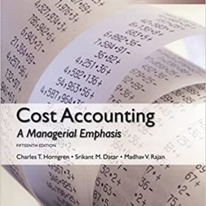Cost Accounting (Global-15th Edition) - eBook