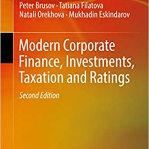 Modern Corporate Finance, Investments, Taxation and Ratings (2nd Edition) - eBook
