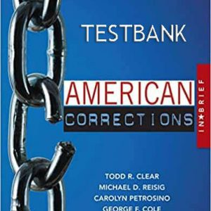 TESTBANK-American-Corrections-in-Brief-3rd-Edition