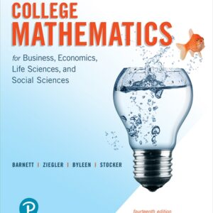 College Mathematics for Business, Economics, Life Sciences, and Social Sciences (14th Edition ) - eBook