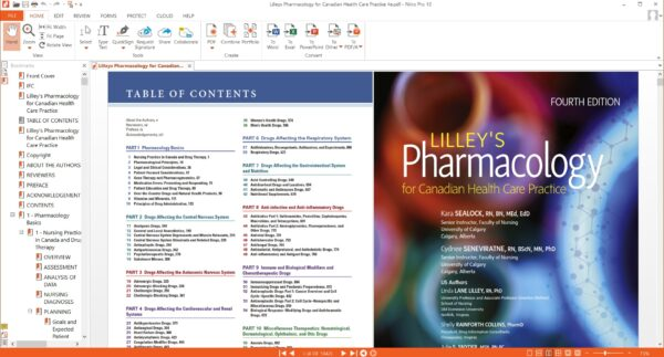 sample 1 - PHARMACOLOGY FOR CANADIAN HEALTH CARE 4e