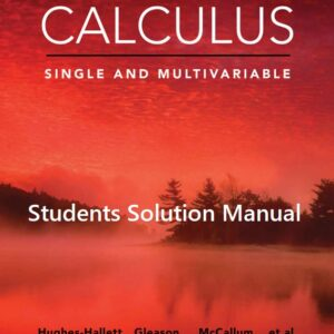 solution manual for calculus single and multivariable 7e