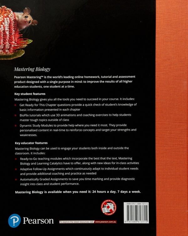 Campbell Biology Australian and New Zealand 11e pdf back cover