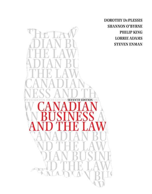 Canadian Business and the Law (7th Edition) - eBook