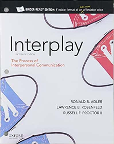 Interplay: The Process of Interpersonal Communication (15th Edition) e-Book
